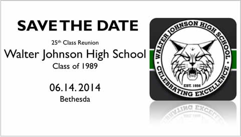 Save the Date: 6.14.2014 for the WJ Class of 1989 25th Reunion